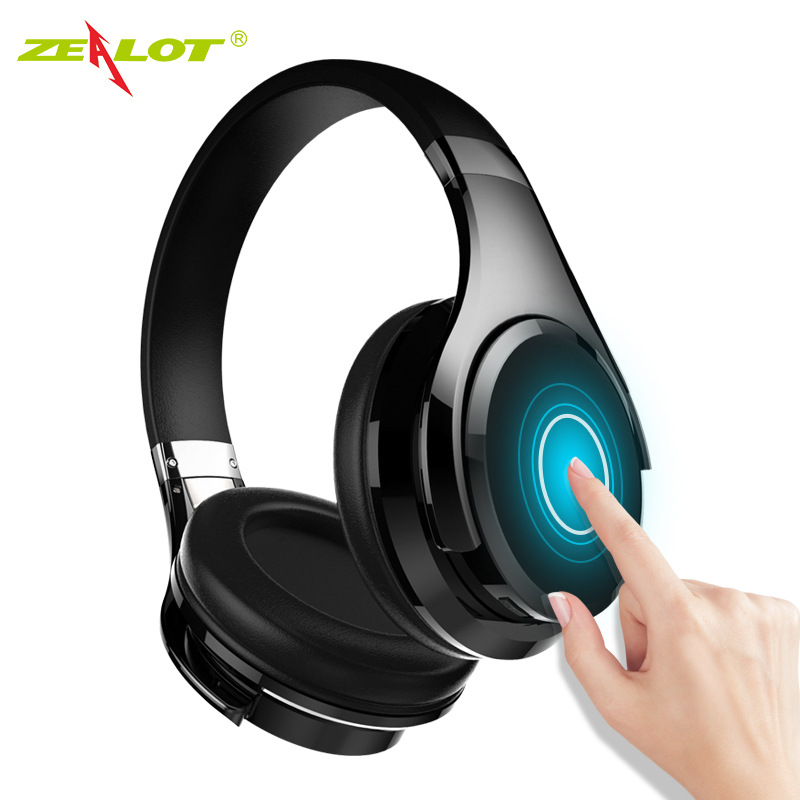 Zealot Bluetooth Headset hifi Stereo Bass Wireless Earphone Noise Canceling Headphones with mic for Phones Touch Control oneodio 4 1 bluetooth headphones sport stereo wired wireless headset with microphone mic noise canceling earphone for xiaomi