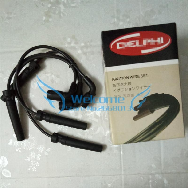цена на 4pcs/set Ignition Cable Kit line for Buick Excelle 1.6 CHEVROLET AVEO CRUZE KALOS REZZO DAEWOO KALOS LANOS NUBIRA REZZO