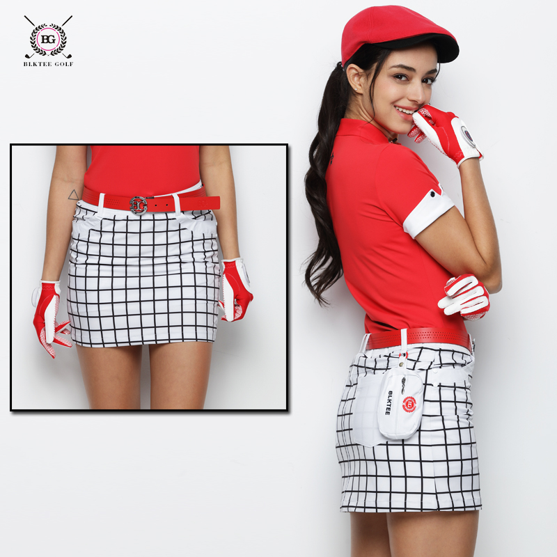 цены women golf skirt lady summer outdoor golf skorts female spring golf apparel breathable lattice golf sports shorts skirts Navy