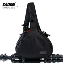 Big sale CADeN DSLR Camera Bags Sling Shoulder Cross Video Photo Digital DSLR Case Waterproof with Rain Cover for Nikon Canon K1 Classic