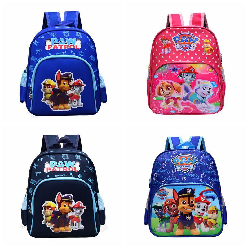 Paw Patrol Bag Cartoon Action Figure Skye Everest Marshall Ryder Chase Print Cute Anime Backpack Kindergarten Children Toy Bag