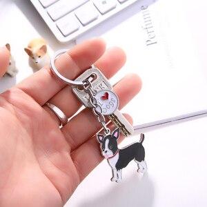 Keychain do Carro Do Cão Chihuahua Animal Chaveiros DIY Titular da Chave Chave Anéis DIY Metal Encantos Bolsa Cães Pingente Melhores Amigos presente