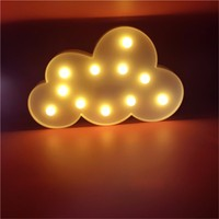 BestFire 3 D Box Led Light Bulb And Battery 11 Cloud White Letters Decorate Children