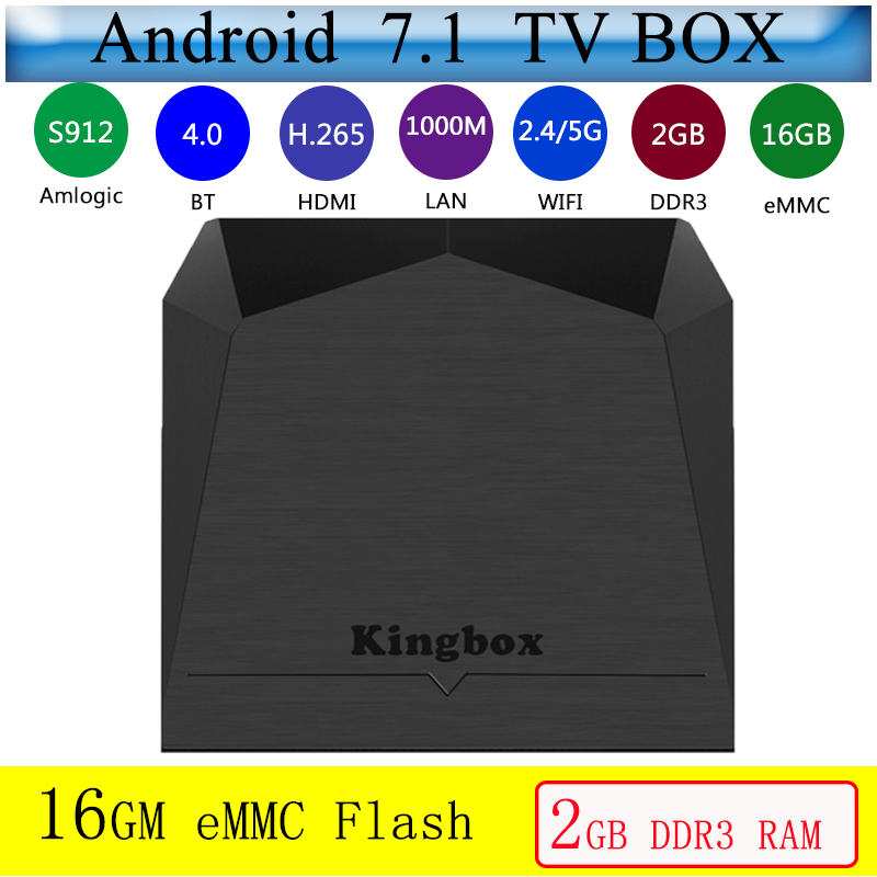 TV Box android 7.1 K3 ott tv box 2 GB RAM 16 GB ROM Amlogic S912 USB 3.0 HDR lecteur multimédia 2.4G & 5G WIFI BT 4.0 décodeur