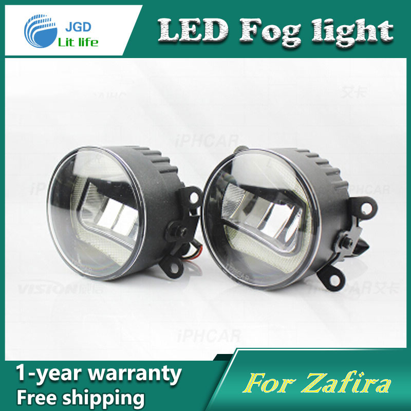 Super White LED Daytime Running Lights case For Opel Zafira 2004-2013 Drl Light Bar Parking Car Fog Lights 12V DC Head Lamp eemrke car styling for opel zafira opc 2005 2011 2 in 1 led fog light lamp drl with lens daytime running lights