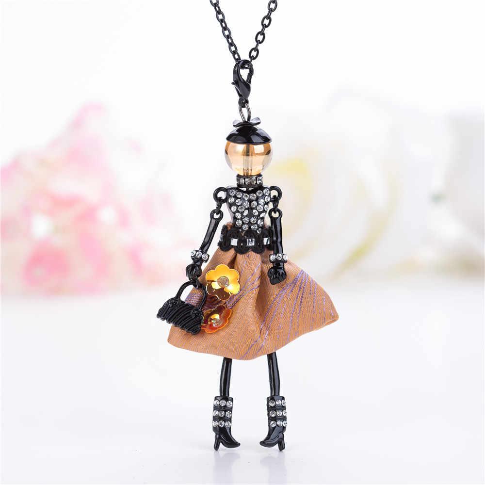 1 шт. милые многоцветные Стразы Кукольное ожерелье зимнее длинное Chian кукла