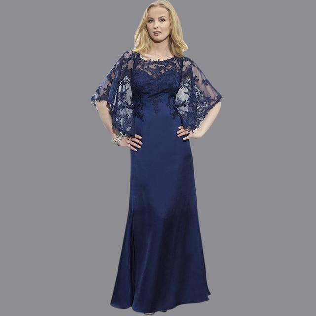 Hot Sale Bateau Neck Top Lace Floor Length Dresses For Mother Long