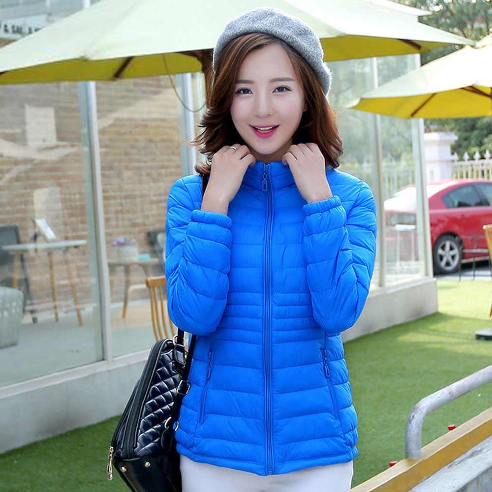 Зимняя легкая пуховая куртка, пальто, женская куртка-пуховик, портативное ветрозащитное пуховое пальто, тонкая хлопковая пуховая парка, верхняя одежда, WDC1471