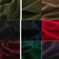 PPCrafts Flanged Thin Woolen Fabrics Plain Weave Wool Flannel Wool Blend Fabric Cloth For Diy