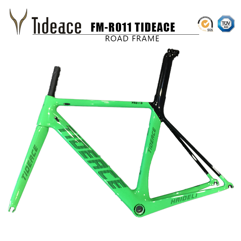 2018 Carbon Road Bike Frame Di2 Mechanical carbon road bike frame cycling race bicycle Tideace carbon fiber ROAD bike frame BSA 2017 bxt carbon road bike frames racing bike frame super light bicycles carbon road frame bsa cycling frameset fast free shippin