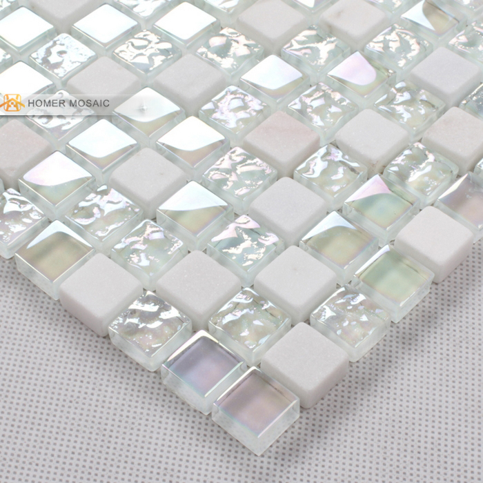 Elegant Pure White Glass Mixed Stone Mosaic Tiles Bathroom Tiles Backsplash Mosaic  Tile Bathroom Shower Mosaic Free Shipping In Wall Stickers From Home ...