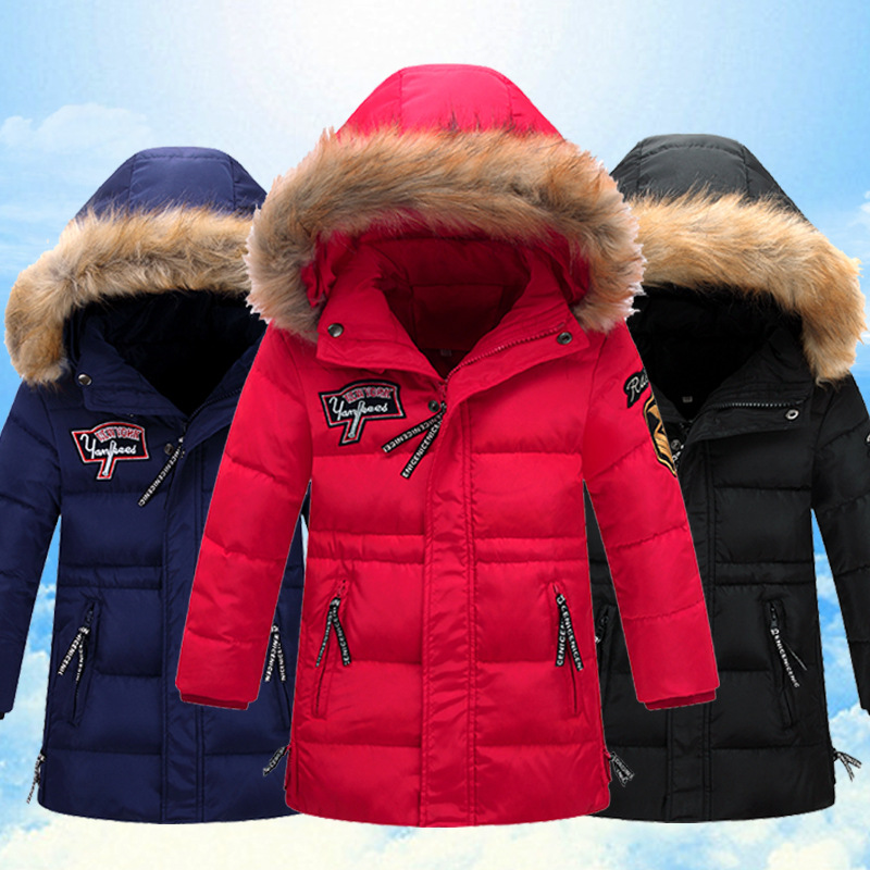 2016 three colors fur hooded girls/boys winter jacket thickening outerwear brand new down coat fashion warm 80% white duck down winter jacket for boys 2017 new brand teenage boys fur collar hooded down coat fashion children thicken warm outerwear clothing