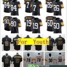 63bcc58b2 TOP Youth Pittsburgh Ben Roethlisberger Antonio Brown TJ Watt JuJu  Smith-Schuster Black Alternate Vapor Untouchable Jersey