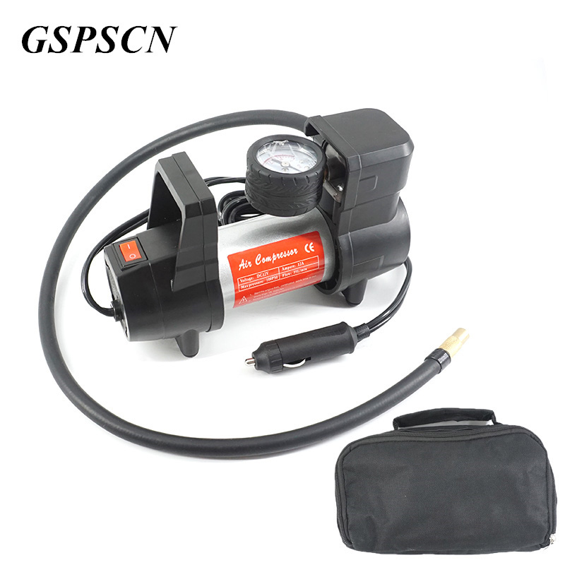 US $35 25 32% OFF|GSPSCN Auto Pump 12V Electric Car Air Pump Inflatable  Pumping Air Compressor 100 PSI Cigarette Lighter Plug Metal Shell-in