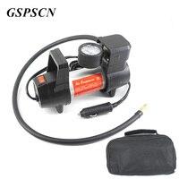 Gspscn السيارات سيارة مضخة الهواء نفخ مضخة 12 فولت الكهربائية ضخ الهواء ضاغط 100 psi ولاعة السجائر التوصيل المعادن قذيفة