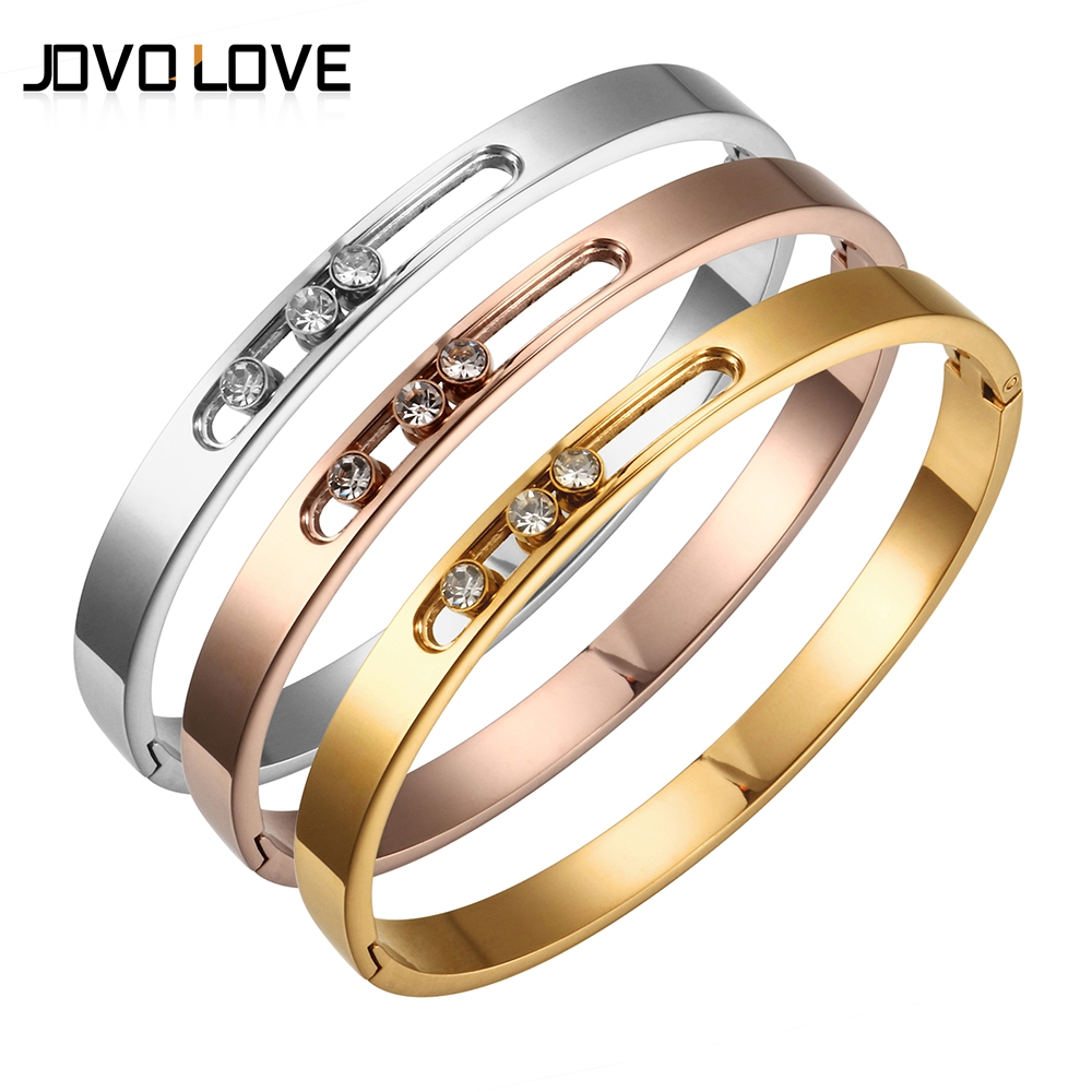 Luxury Bracelet Cubic Zircon Trendy Stainless Steel Bracelets & Bangles Silver Rose Gold Bracelet for Women Wholesale BijouxLuxury Bracelet Cubic Zircon Trendy Stainless Steel Bracelets & Bangles Silver Rose Gold Bracelet for Women Wholesale Bijoux