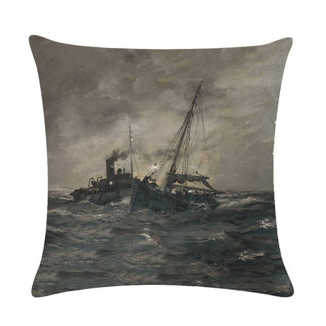 Old Fashioned Ship Cushion Covers  3