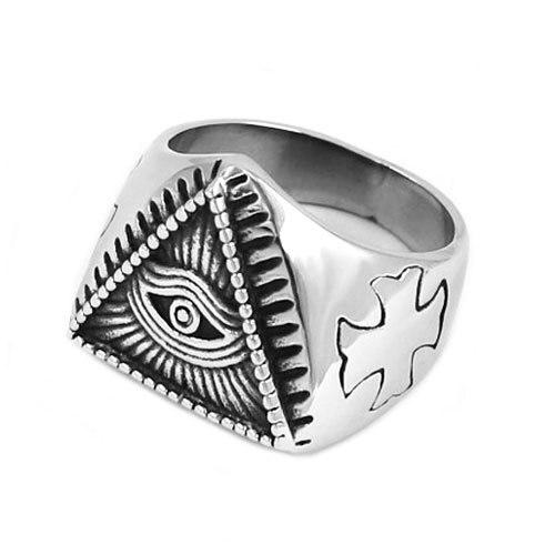 Pyramid Eye Illuminati Symbol Ring5