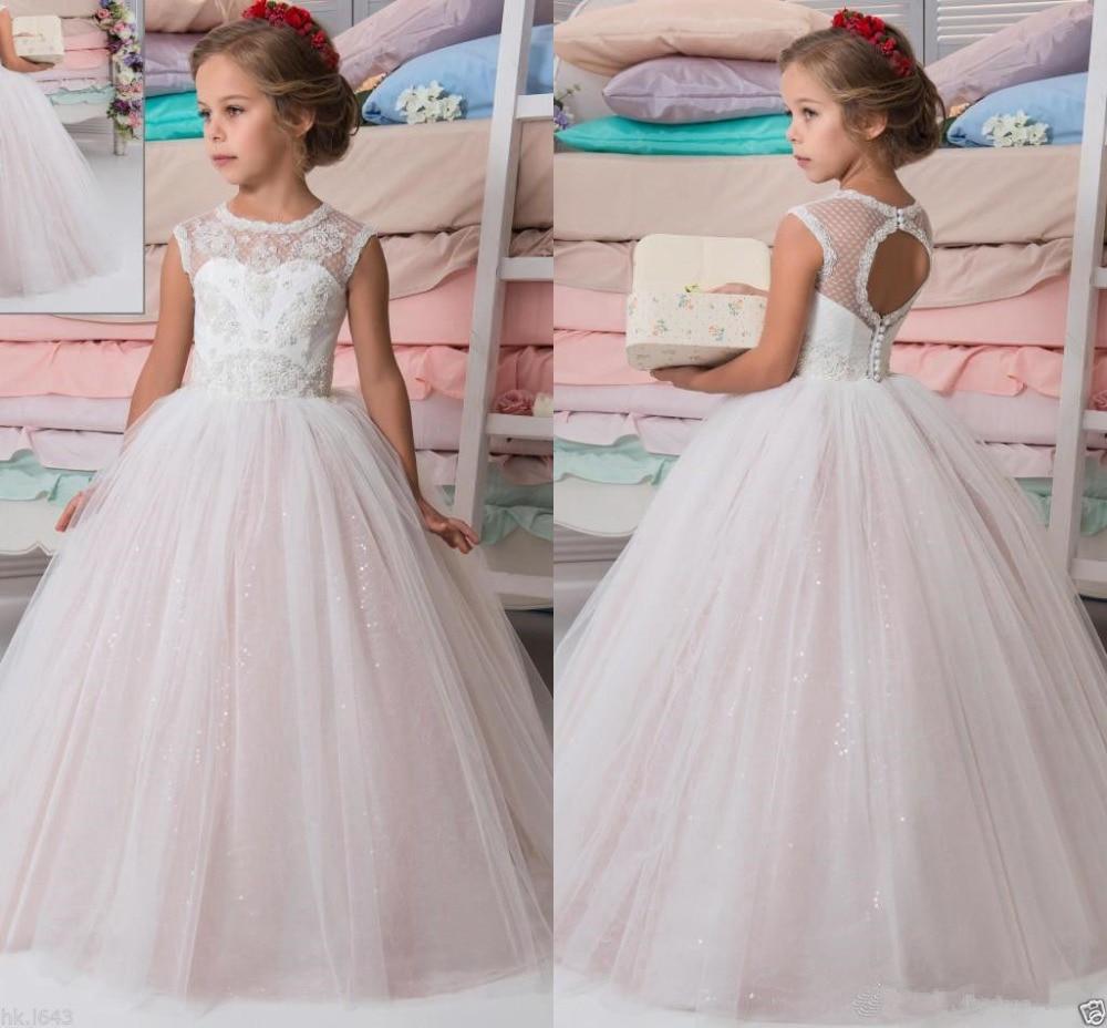 Lace Communion Party Prom Princess Pageant gown   Flower     Girl     Dress   First Communion   Dresses   Occassion Gown Vestidos De Comunion