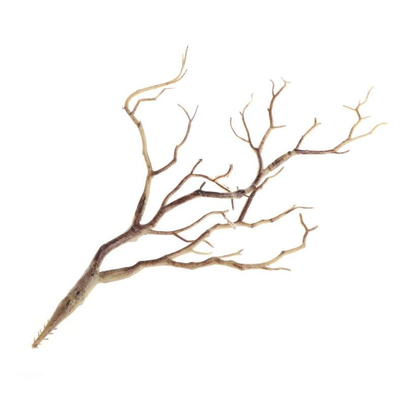 Свадебные украшения павлин коралловые ветви пластиковые искусственные растения сушеное дерево M15 - Цвет: Coffee
