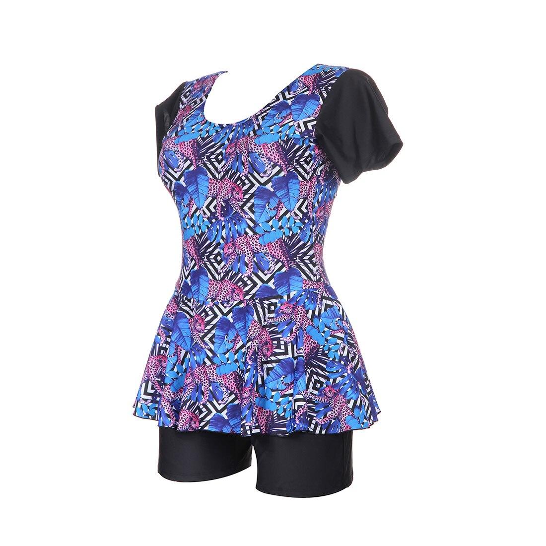 2018 plus size two piece swimsuit short sleeve swimwear. Black Bedroom Furniture Sets. Home Design Ideas
