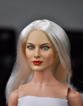 1/6 Female Girl Woman Head Sculpts with Long Hair Carving 16-23A F 12 Action Figure Toys