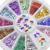 24 unidades de 3mm Multicolor Bowknot 3D Nail Stickers Arte DIY Manicura Consejos Rueda Decoración