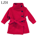 LZH 2016 Children Coat Baby Girls Winter Jacket Long-Sleeved Bow Girls Warm Baby Jacket Winter Outerwear Coat Thick Kids Clothes