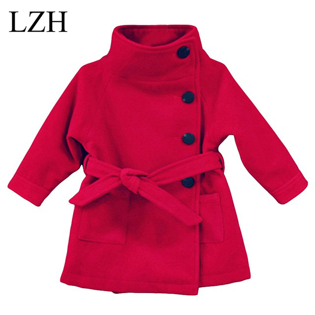 LZH 2016 Crianças Bebê Casaco Meninas Jaqueta de Inverno Longo-Manga Arco Meninas Do Bebê Quente Casaco Outerwear casaco de Inverno de Espessura Roupa dos miúdos