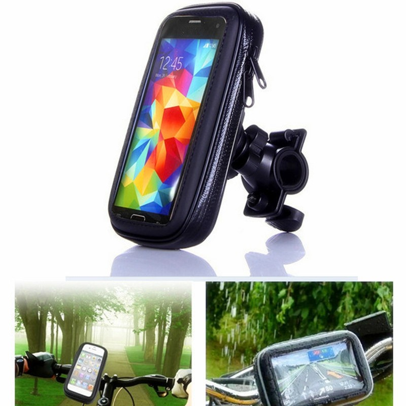 Bike Bicycle Phone Holder Mount Bracket Stand 360 Rotating Cell Phone Waterproof Case Bag For Samsung S3 S4 S7 Iphone Huawei