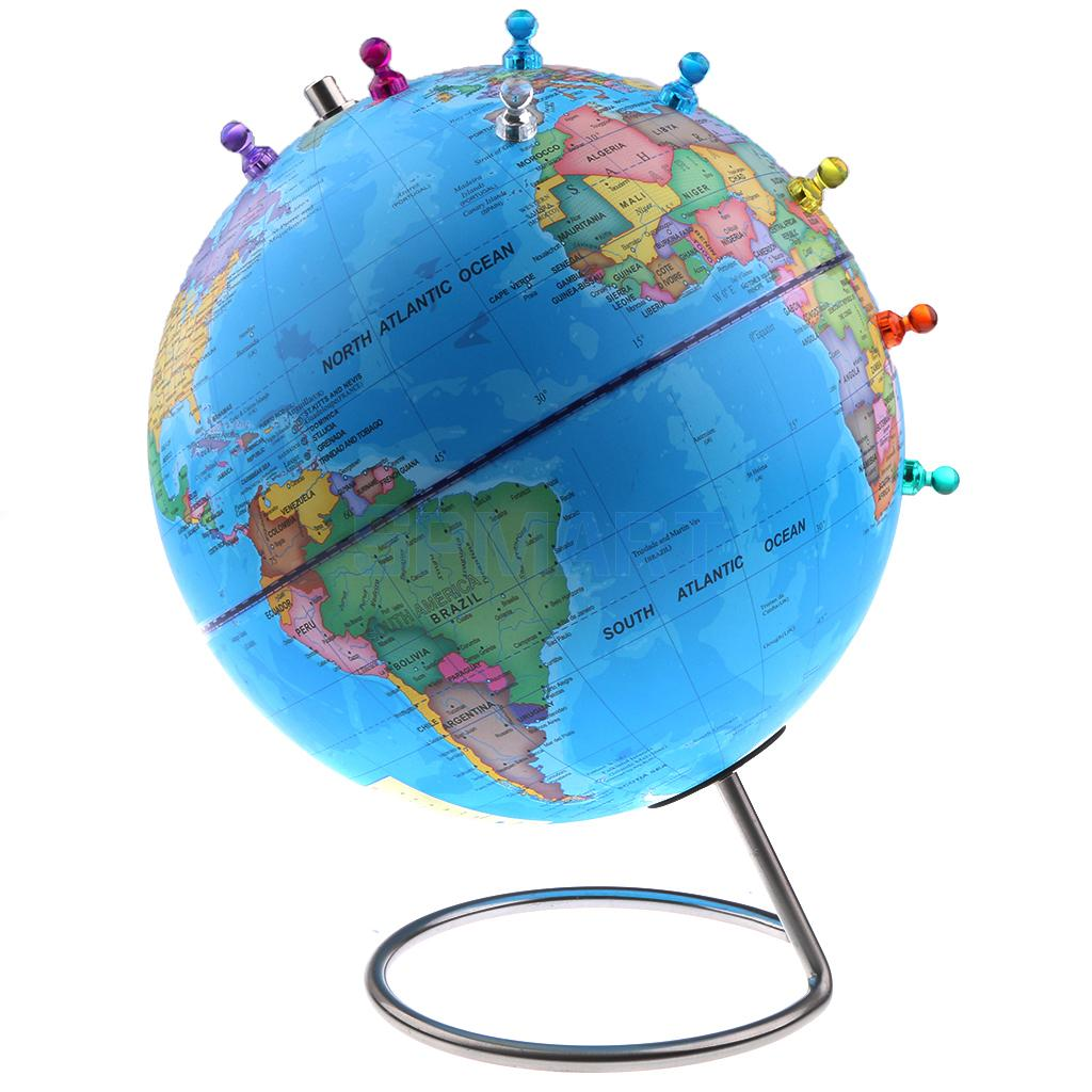 World Map With Magnetic Pins.Online Shop 10 Magnetic World Globe With Magnetic Pins Earth