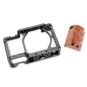 Image 3 - Smallrig a6300 ミリメートルロッドブロックリグと木製ハンドグリップソニー A6000/A6300 一眼レフケージキットアルミ合金ケージ 2082