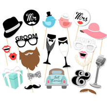 Photo Booth Props Wedding Decoration MrMrs Just Married Photobooth Baby Bridal Shower Party