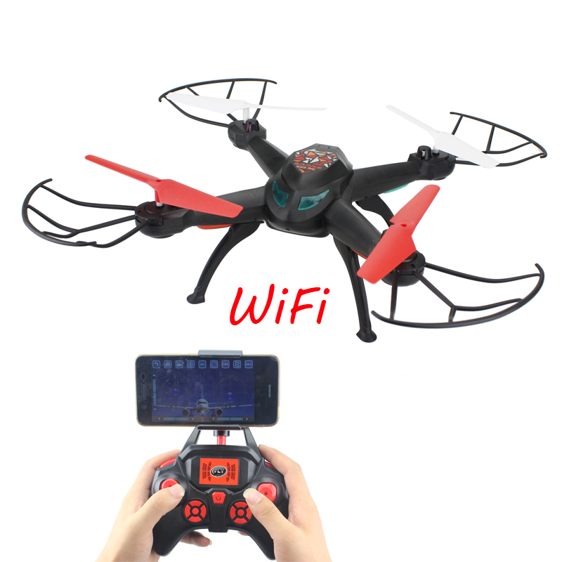 RC Quadcopter 2.4G Remote Control Helicopter 6 Axis Gyro Headless Model & One Key Return 3D Flip 30W HD WIFI Real-Time Video