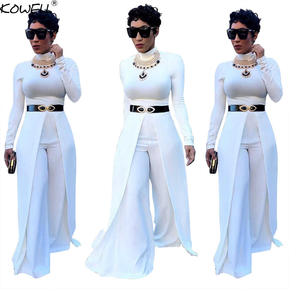 ddd4bf7a3df Hot Sale Women Jumpsuits For Women 2018 Wide Leg Pants Party Women Rompers  O-Neck