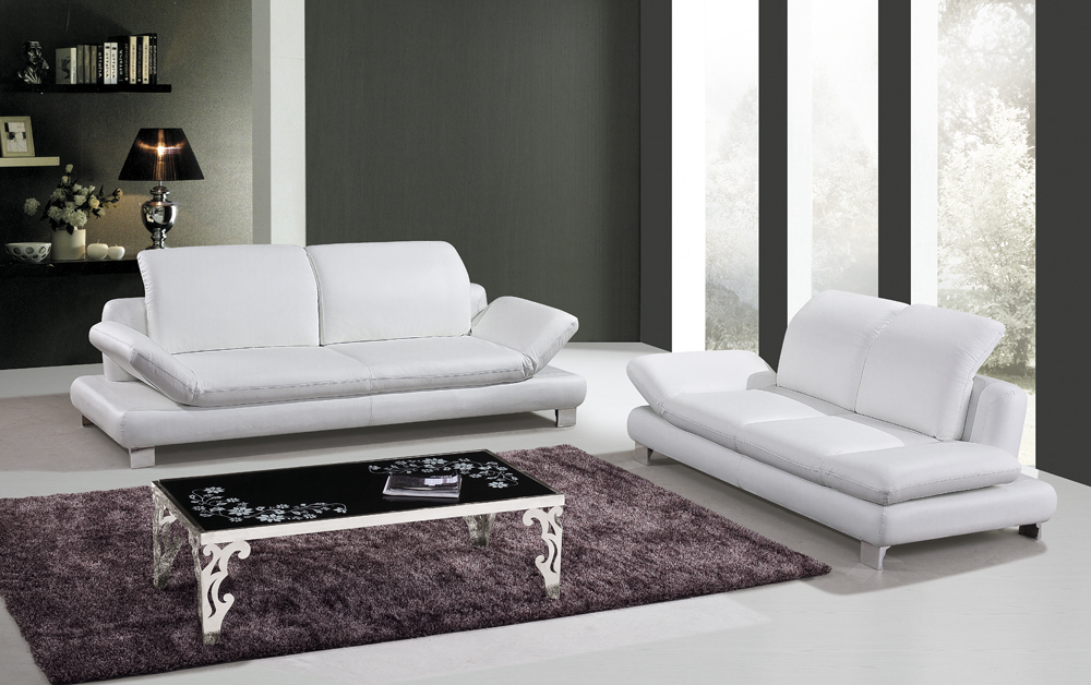 Modren Modern Leather Sofa Living Room Furniture Sets I And ...