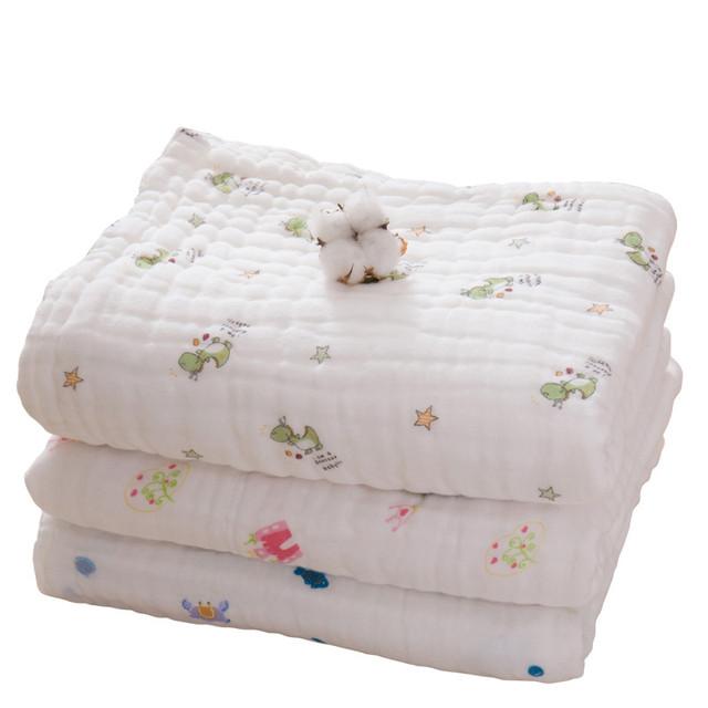 Baby bath towel animal macio pequenos recém-nascidos gasas para bebes branco 6 camadas de gaze de algodão do bebê towel toalhas de banho 70*140 50A002