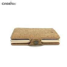 CaseKey Hochwertige Mode Männer Frauen Kartenhalter Brieftasche Ledertasche Kartenhalter Tasche Slots Business Prote Carte Brieftasche