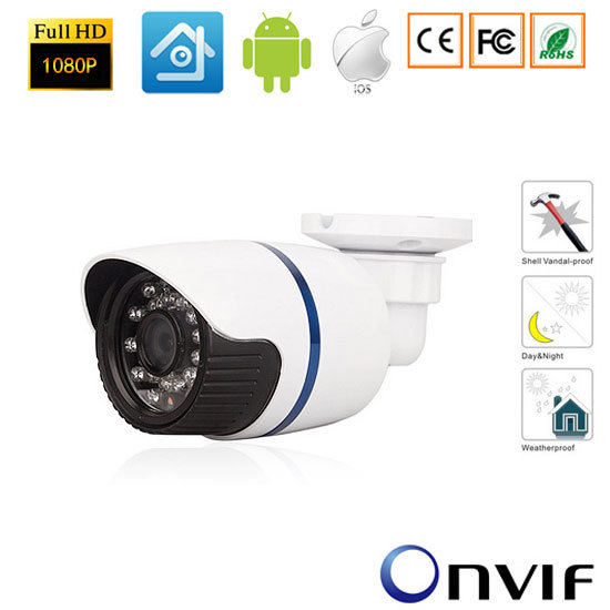 2.0MP 1080P Onvif Outdoor Waterproof Network Bullet Camera IR1080P Full-HD Waterproof CCTV Camera-xmeye wistino cctv camera metal housing outdoor use waterproof bullet casing for ip camera hot sale white color cover case