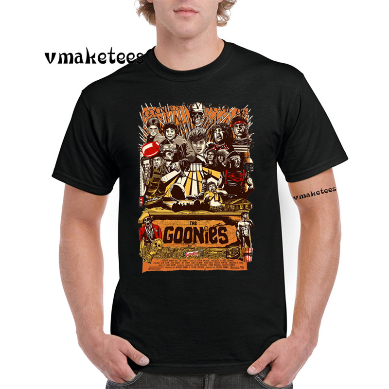 The Goonies Never Say Die Fashion   T  -  shirt   O-Neck Short sleeves Astoria Oregon   T     Shirt   GMT793