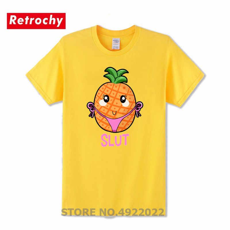 Ananas fajne tshirt dziwka śmieszne niegrzeczne Cartoon stringi ciąg T-shirt człowiek humorystyczny projekt koszulki Brooklyn 99 Homme dostosowane