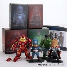 Avengers 2 Age of Ultron Light & Action Function Hulkbuster Thor Hulk Captain America PVC Action Figures Toys 4pcs/set