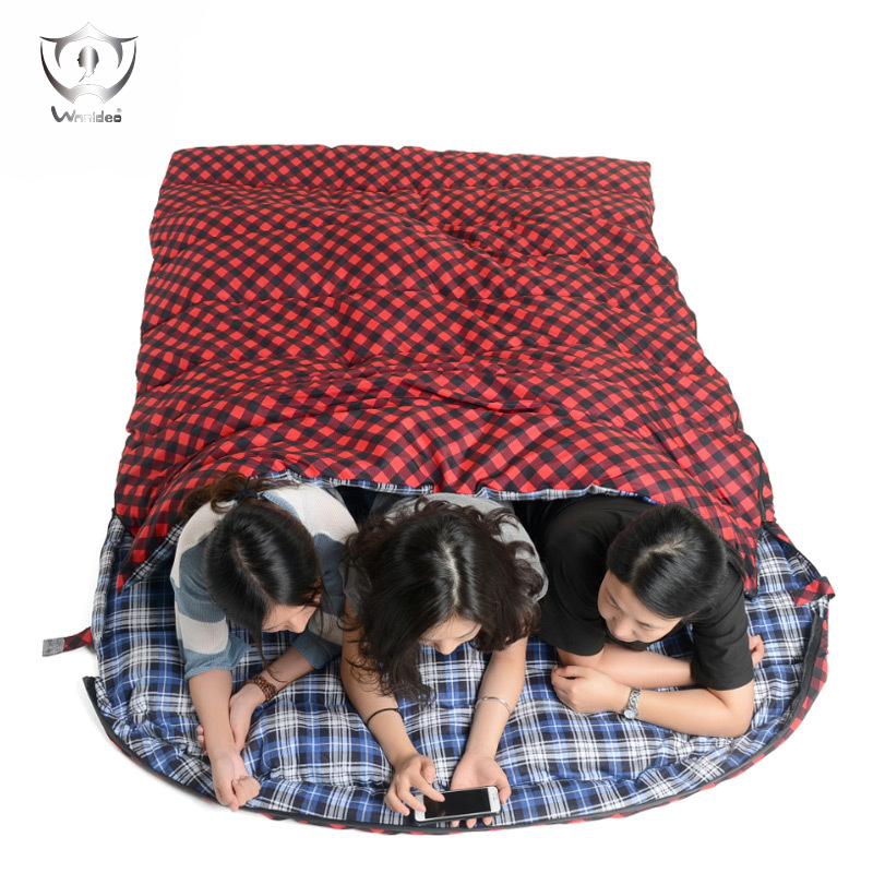 Outdoor Sleeping Bags Adults Four Seasons Thickening Warm Camping Autumn and Winter Double Outdoor Lovers Sleeping Bag ZH8-242 nh sleeping bag adult outdoor winter thermal winter thickening thermal autumn and winter cotton sleeping bags single double