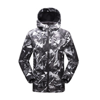 TECTOP Camouflage Outdoor Hiking Jacket Softshell Rain Hunting Clothes Athletic Winter Sports Jacket Men Printing Coats