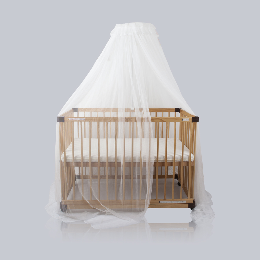 HOUSBAY High Quality Crib Mosquito Netting Baby Bed Round Canopy Mosquito Net and Baby Bedding Mosquito Curtain Easy to Install