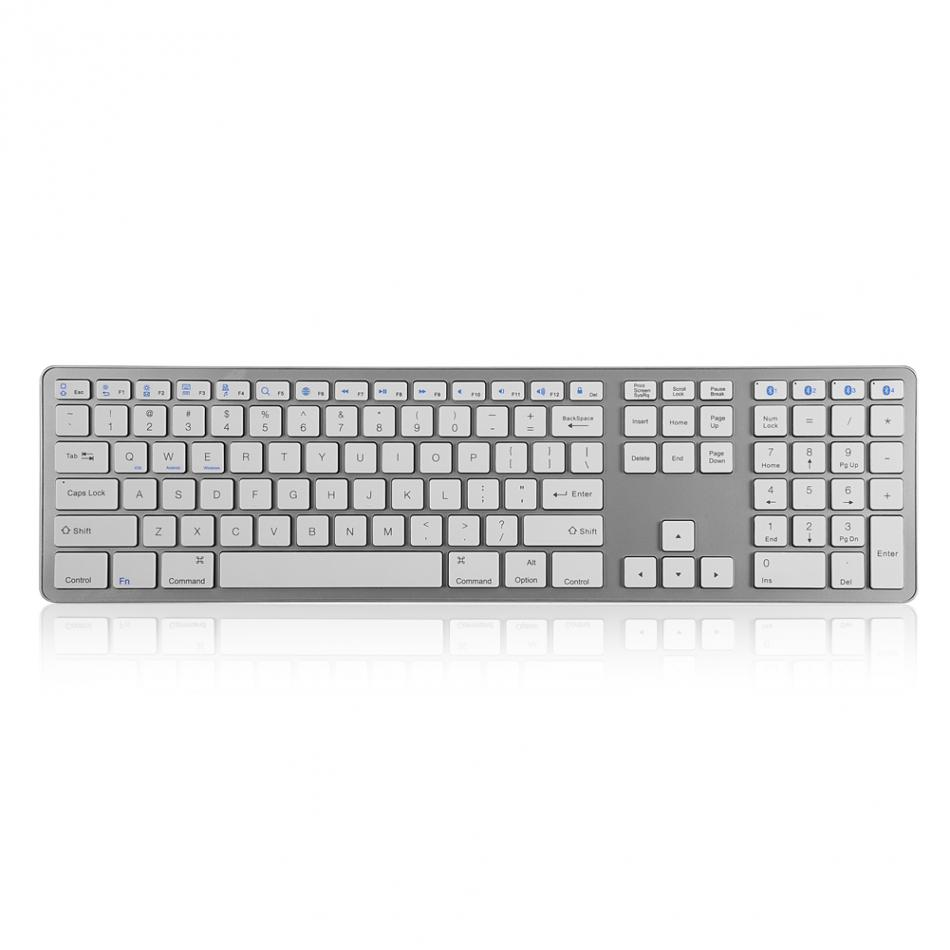 Universal Multi Pairing Wireless Bluetooth Keyboard 104 Keys for PC/ Laptop/ Tablet-in Keyboards from Computer & Office