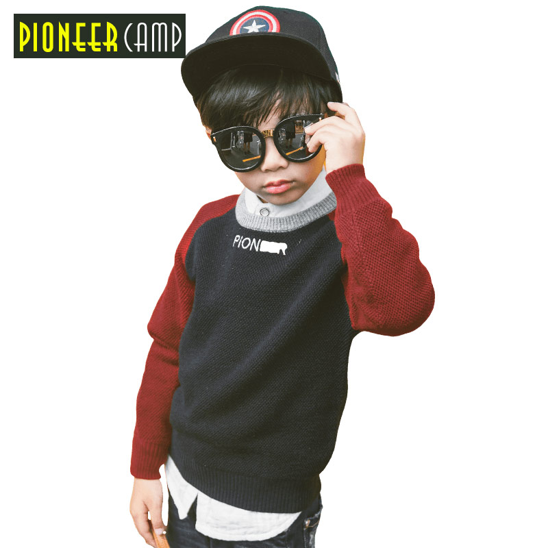 Pioneer Camp Kids 2017 Winter Cashmere Sweater for Boys Warm O-Neck Boys Sweater Knitting Pattern Brand Kids Knitted Sweaters fit 1 6 12 dolls scene accessories piano red wood transparent piano stool set