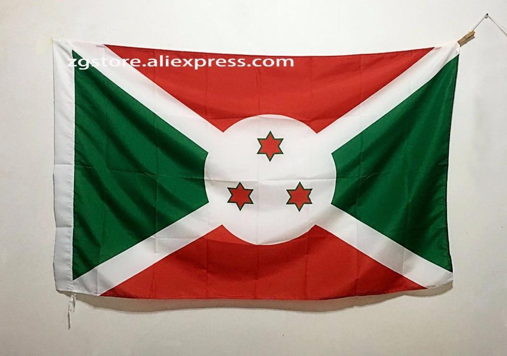 Burundi Africa National Flag All Over The World hot sell goods 3X5FT 150X90CM Banner brass metal holes
