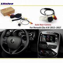 Liislee Reversing Rear Camera For Renault Clio 4 IV 2012~2018 Connect Original Factory Screen Monitor License plate light camera