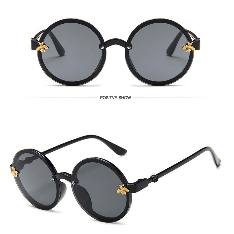 2019 Children Sunglasses Cute Round Little Bee Sunglasses UV400 Plastic Sport Sun Glasses For Baby Girls Boys Glasses Oculos